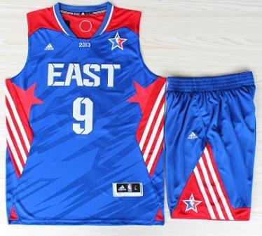 2013 All-Star Eastern Conference Boston Celtics 9 Rajon Rondo Blue Revolution 30 Swingman Basketball Suits