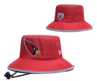 2020 Arizona Cardinals Stitched Red Bucket Fisherman Football Hats