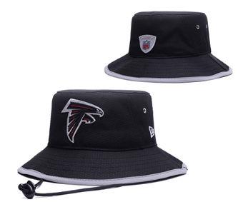 2020 Atlanta Falcons Stitched Black Bucket Fisherman Football Hats