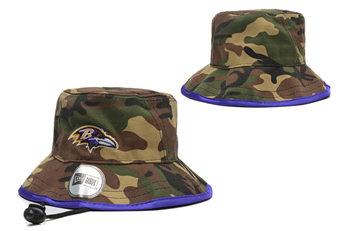 2020 Baltimore Ravens Stitched Camo Bucket Fisherman Football Hats