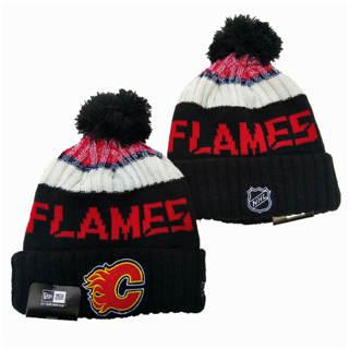 2020 Calgary Flames Team Logo Stitched Hockey Sports Beanie Hat YD