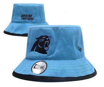 2020 Carolina Panthers Stitched Blue Bucket Fisherman Football Hats