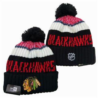 2020 Chicago Blackhawks Team Logo Stitched Hockey Sports Beanie Hat YD