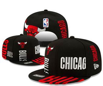 2020 Chicago Bulls Stitched Adjustable Snapback Team Logo Basketball Hat 50