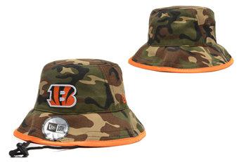 2020 Cincinnati Bengals Stitched Camo Bucket Fisherman Football Hats