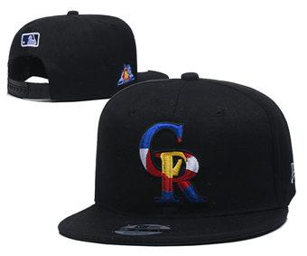 2020 Colorado Rockies Stitched Adjustable Snapback Team Logo Baseball Hat YD17