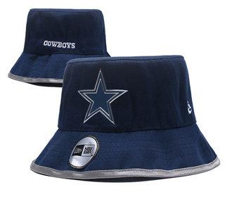 2020 Dallas Cowboys Stitched Dark Blue Bucket Fisherman Football Hats