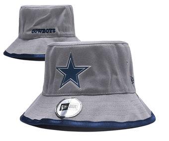 2020 Dallas Cowboys Stitched Grey Bucket Fisherman Football Hats