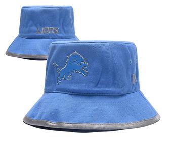 2020 Detroit Lions Stitched Blue Bucket Fisherman Football Hats