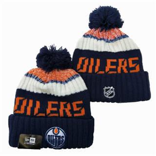 2020 Edmonton Oilers Team Logo Stitched Hockey Sports Beanie Hat YD