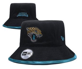 2020 Jacksonville Jaguars Stitched Black Bucket Fisherman Football Hats