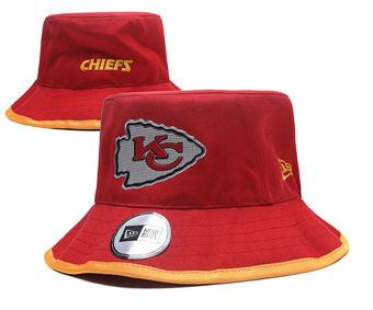 2020 Kansas City Chiefs Stitched Red Bucket Fisherman Football Hats