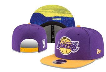 2020 Los Angeles Lakers Stitched Adjustable Snapback Team Logo Basketball Hat 25
