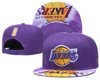 2020 Los Angeles Lakers Stitched Adjustable Snapback Team Logo Basketball Hat 40