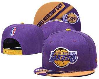 2020 Los Angeles Lakers Stitched Adjustable Snapback Team Logo Basketball Hat 41