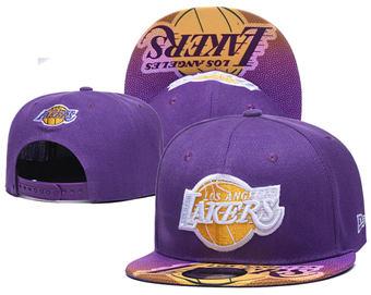 2020 Los Angeles Lakers Stitched Adjustable Snapback Team Logo Basketball Hat 42
