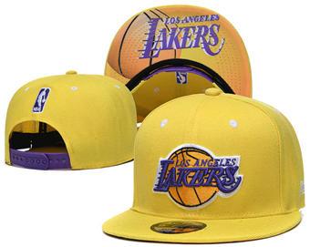 2020 Los Angeles Lakers Stitched Adjustable Snapback Team Logo Basketball Hat 44