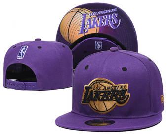 2020 Los Angeles Lakers Stitched Adjustable Snapback Team Logo Basketball Hat 45