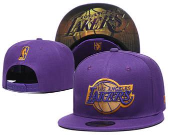 2020 Los Angeles Lakers Stitched Adjustable Snapback Team Logo Basketball Hat 46
