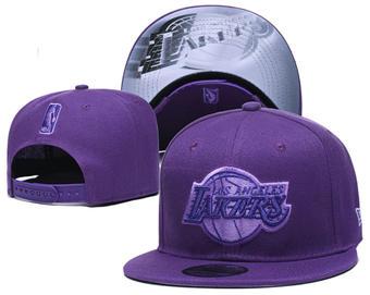2020 Los Angeles Lakers Stitched Adjustable Snapback Team Logo Basketball Hat 47