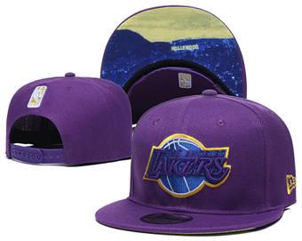 2020 Los Angeles Lakers Stitched Adjustable Snapback Team Logo Basketball Hat 48