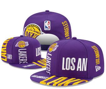 2020 Los Angeles Lakers Stitched Adjustable Snapback Team Logo Basketball Hat 49
