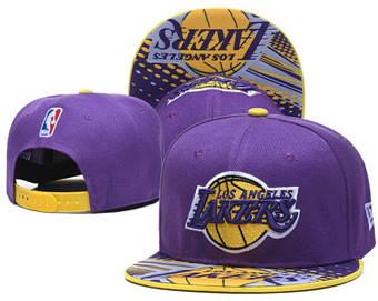 2020 Los Angeles Lakers Stitched Adjustable Snapback Team Logo Basketball Hat LH 6