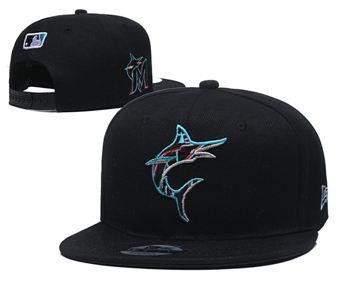 2020 Miami Marlins Stitched Adjustable Snapback Team Logo Baseball Hat YD18