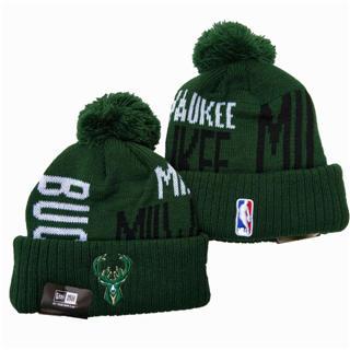 2020 Milwaukee Bucks Team Logo Stitched Basketball Sports Beanie Hat YD