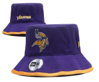 2020 Minnesota Vikings Stitched Purple Bucket Fisherman Football Hats