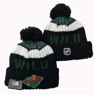2020 Minnesota Wild Team Logo Stitched Hockey Sports Beanie Hat YD