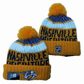 2020 Nashville Predators Team Logo Stitched Hockey Sports Beanie Hat YD