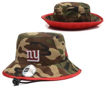 2020 New York Giants Stitched Camo Bucket Fisherman Football Hats