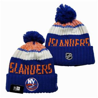 2020 New York Islanders Team Logo Stitched Hockey Sports Beanie Hat YD