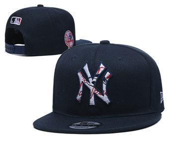 2020 New York Yankees Stitched Adjustable Snapback Team Logo Baseball Hat YD15