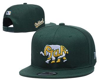 2020 Oakland Athletics Stitched Adjustable Snapback Team Logo Baseball Hat YD14