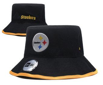 2020 Pittsburgh Steelers Stitched Black Bucket Fisherman Football Hats