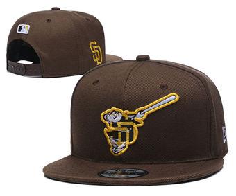 2020 San Diego Padres Stitched Adjustable Snapback Team Logo Baseball Hat YD11