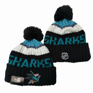 2020 San Jose Sharks Team Logo Stitched Hockey Sports Beanie Hat YD