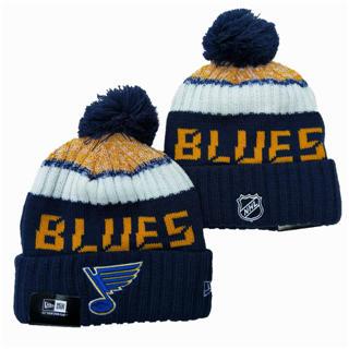 2020 St. Louis Blues Team Logo Stitched Hockey Sports Beanie Hat YD