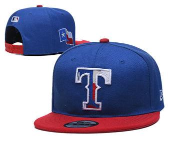 2020 Texas Rangers Stitched Adjustable Snapback Team Logo Baseball Hat YD1