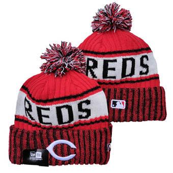 2021 Baseball Cincinnati Reds Knit Hats 017