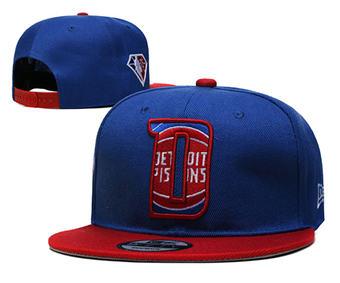 2021 Basketball Detroit Pistons Stitched Snapback Hats 003