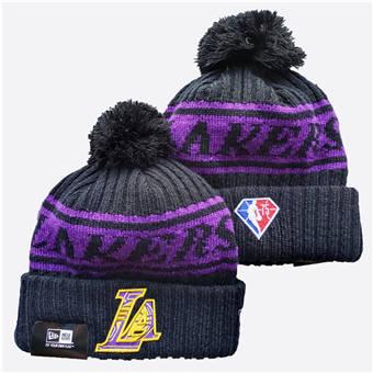 2021 Basketball Los Angeles Lakers Knit Hats 035