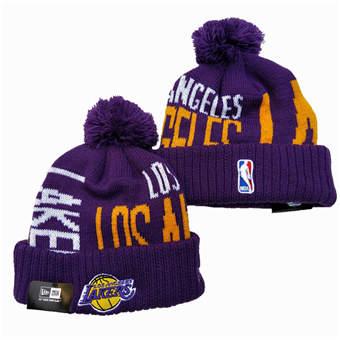 2021 Basketball Los Angeles Lakers Knit Hats 036