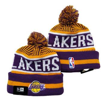 2021 Basketball Los Angeles Lakers Knit Hats 037