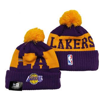 2021 Basketball Los Angeles Lakers Knit Hats 038