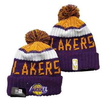 2021 Basketball Los Angeles Lakers Knit Hats 039