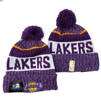 2021 Basketball Los Angeles Lakers Knit Hats 040