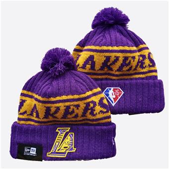 2021 Basketball Los Angeles Lakers Knit Hats 041